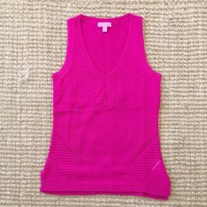 Hot pink Lilly Pulitzer sweater tank, XS